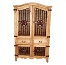 7th Step?s Iron Front Star Accented Armoire