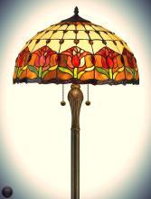 Tiffany Style Tulips Floor Lamp 18-Inch Shade
