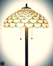 Tiffany Style Jeweled Floor Lamp, 18-Inch