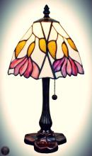 Tiffany Style  15.5-inch Floral Mini Table Lamp