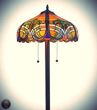 Tiffany Style 2-light Baroque Floor Lamp