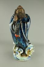Republic Damo Bodhidharma Porcelain Figure