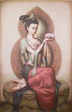 Chinese OOC Painting Beautiful Girl Zeng Hao