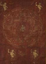 17/18th Century Chinese Tibetan Tanka