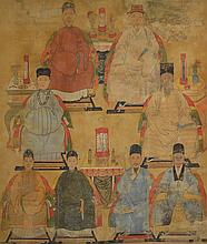 Chinese Qing Period Imperial Portrait Watercolour