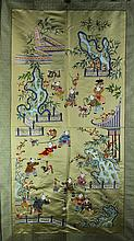 Chinese 100 Boys Patterned Embroidery on Silk