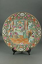 Chinese Canton Famille Rose Porcelain Charger