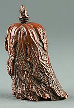 Chinese Hardstone Carved Bokchoy Snuff Bottle