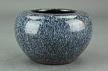 Chinese Blue Ground Porcelain Waterpot Yongzheng