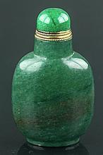 Chinese Green Hardstone Snuff Bottle