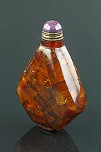Chinese Old Amber Snuff Bottle