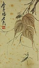 Chinese WC Insects Scroll Qi Baishi 1864-1957