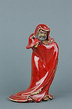 Chinese Copper Red Porcelain Figure