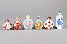 6 Pieces Chinese Variety Snuff Bottles