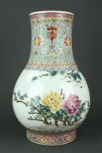 Chinese Large Famille Rose Porcelain Zun Vase