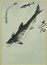 WC Fish Painting Framed Qi Baishi 1864-1957
