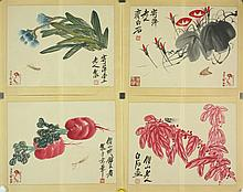 4P WC Paper Flower & Insects Qi Baishi 1864-1957