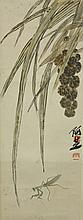 WC Paper Scroll Grass & Insect Qi Baishi 1864-1957