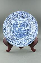 Chinese BW Export Porcelain Plate Mark on Base