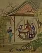 Chinese Watercolour Court Painting Leng Xiang