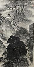 Chinese Village Scene Painting Yang Shan Shen