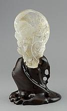 Chinese Natural Crystal Carved Happy Buddha