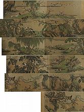Chinese Long 100 Birds Silk Shen Quan 1682?1760