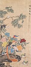 Chinese WC Bird & Flowers Yun Shouping 1633-1690