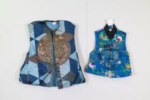 2 Pieces of Chinese Baby Textile Vests