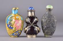 Set of Three Chinese Snuff Bottles