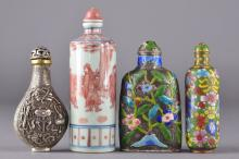 Set of Four Chinese Snuff Bottles