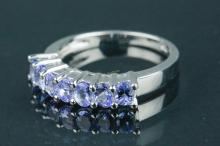 Sterling Silver Tanzanite Ring Appraised $368