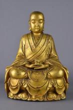 19th/20th C. Chinese Gilt Bronze Figure of Buddha