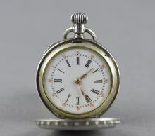 Chinese Pocket Watch 1890 Labelle 800 Silver
