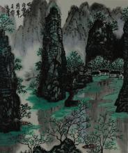 Chinese Landscape Painting Bai Xue Shi 1915 - 2011