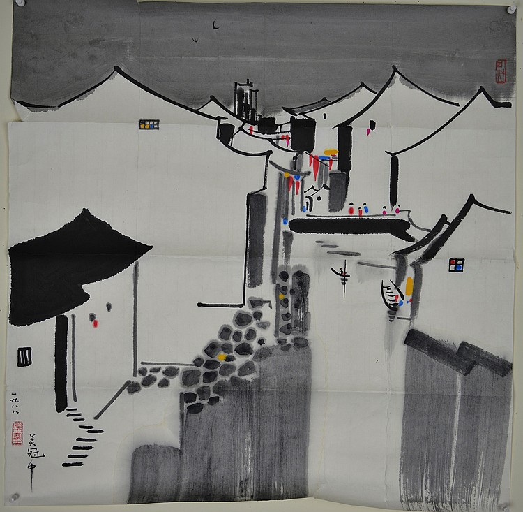 Chinese Modern Painting on Paper