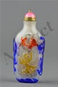 Chinese White & Blue Peking Glass Snuff Bottle