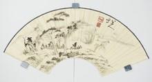 Chinese Landscape Fan Painting Ba Da Shan Ren