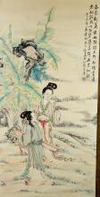 Chinese Painting of Ladies Signed Wu Da Dun