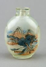 Qing Period Inside Painted Glass Snuff Bottle