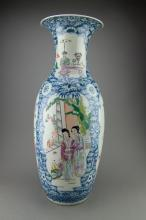 Fine Detailed Chinese Porcelain Vase Paint Kangxi