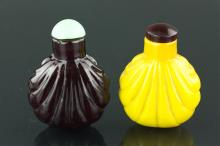 Two Pieces of Chinese Peking Glass Snuff Bottles