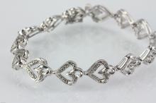 Sterling Silver Diamond (0.05ct) Bracelet CVR $400