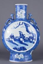 Chinese Blue&White Porcelain Moon Flask Kangxi Mk