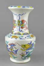Chinese Doucai Porcelain Vase Qing Daoguang Mark
