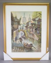 Chinese Modern Watercolour Framed Signed Sealed