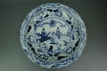 Chinese BW Porcelain Charger
