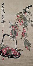 Chinese Lychee Scroll Qi Baishi 1864-1957