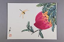 Chinese WC Peach & Dragon Qi Baishi (1864-1957)
