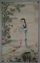 Chinese Watercolour Women Painting Shao Mei